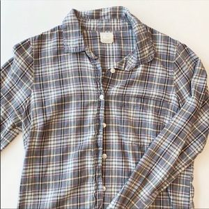 J. Crew Plaid Button Down Shirt Sz XS